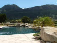 Stylish Rock pool with waterfalls Cape Town