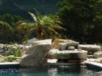 Stylish Rock pool with waterfalls