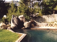 Sculptural Rock Feature and Swimming Pool Cape Town