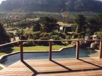 Swimming Pool with Rock Feature and Deck Cape Town