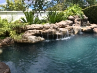 Rock Water Feature with Waterfalls and Swimming Pool